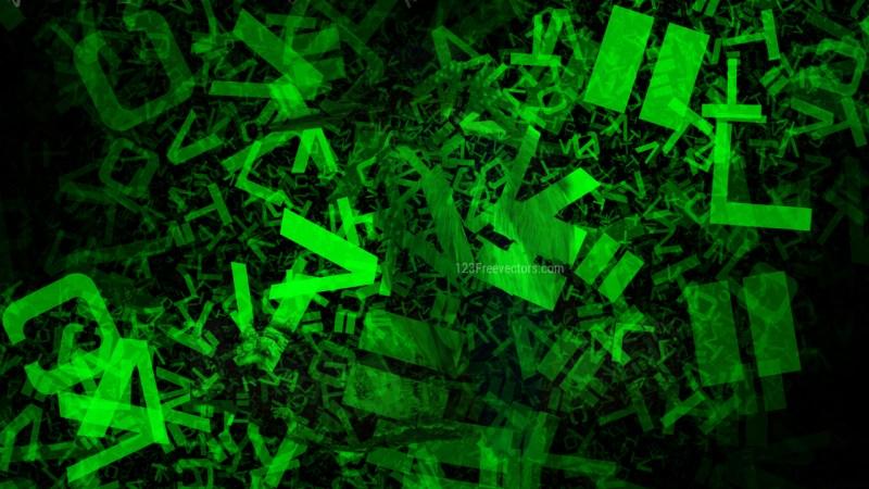 Cool Green Alphabet Letters Texture Image