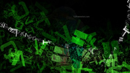 Cool Green Alphabet Texture Background Image