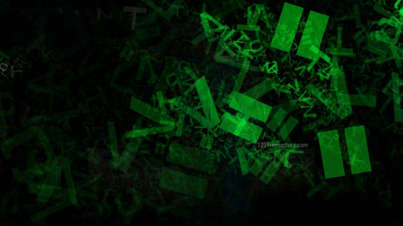 Cool Green Chaos Alphabet Letters Texture Background Image