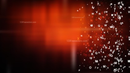 Cool Orange Scattered Alphabet Background