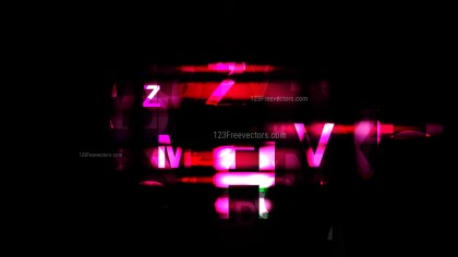 Abstract Cool Pink Random Alphabet background