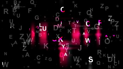 Abstract Cool Pink Letters Background Image