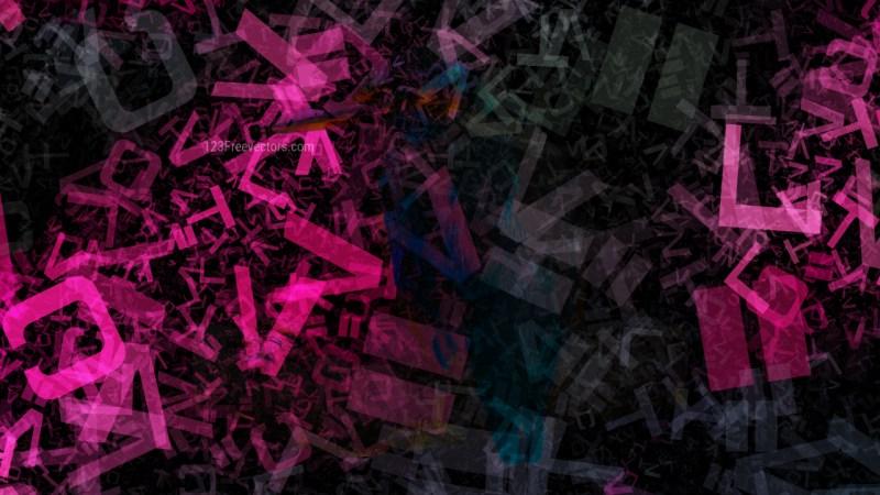 Cool Pink Random Alphabet Letters Texture Background