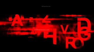 Abstract Cool Red Random Alphabet background Vector Image