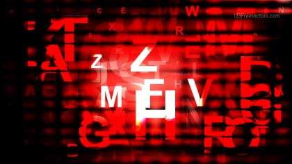 Abstract Cool Red Alphabet Letters Background Vector Art