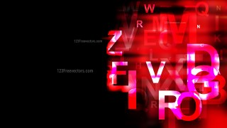 Cool Red Random Letters Background