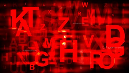 Cool Red Random Letters Background Illustrator