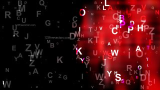 Cool Red Scattered Letters Background Vector Art