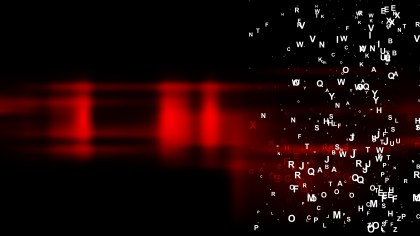 Abstract Cool Red Random Letters Background