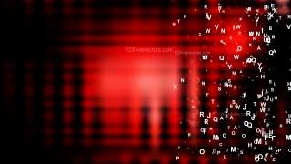 Cool Red Scattered Alphabet Letters Background Vector Illustration