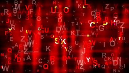 Cool Red Scattered Letters Background Illustration
