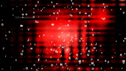 Cool Red Scattered Alphabet Background