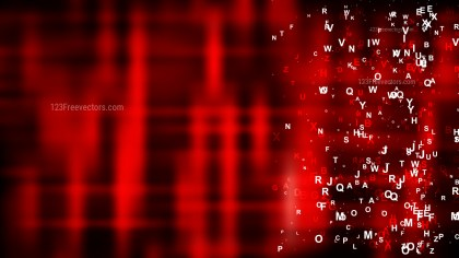 Abstract Cool Red Alphabet Letters Background