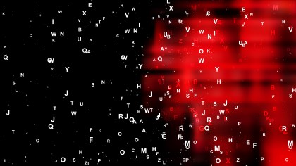 Abstract Cool Red Random Alphabet Letters Background