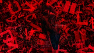 Cool Red Random Letters Texture Background