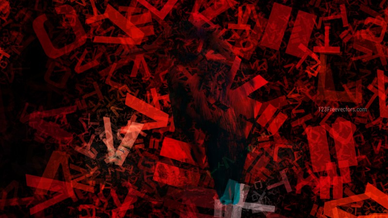 Cool Red Chaotic Alphabet Letters Texture Image