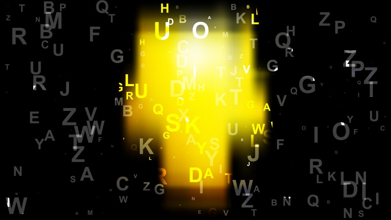 Abstract Cool Yellow Alphabet Letters Background