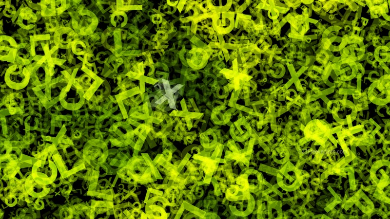 Dark Green Chaos Alphabet Letters Texture Background