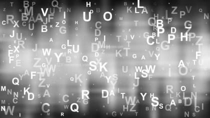 Abstract Dark Grey Alphabet Background