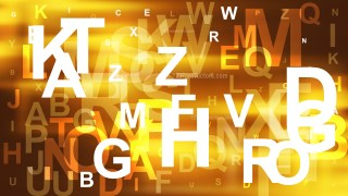 Abstract Dark Orange Scattered Alphabet Background Design