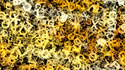 Dark Orange Alphabet Letters Chaos Texture