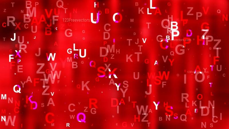 Dark Red Alphabet Background Vector Graphic
