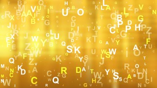 Abstract Gold Random Letters Background Graphic