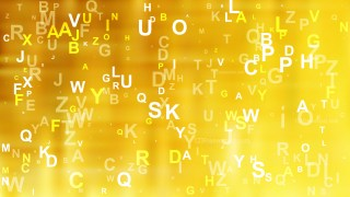 Abstract Gold Scattered Letters Background Image