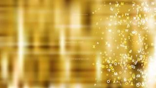 Gold Alphabet Letters Background Vector Art