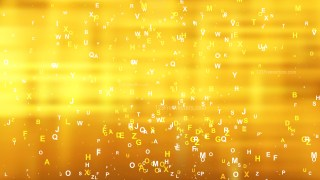 Abstract Gold Letters Background