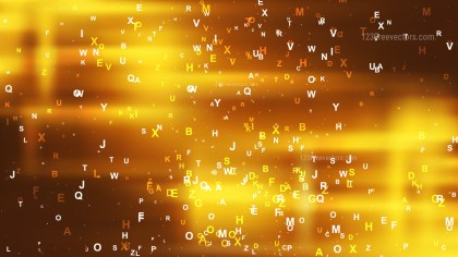 Abstract Gold Alphabet Background