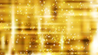 Abstract Gold Alphabet Letters Background