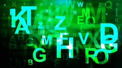 Green and Black Alphabet Letters Background