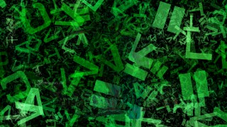 Green and Black Chaotic Letters Texture Image
