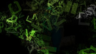 Green and Black Alphabet Letters Chaos Texture Image