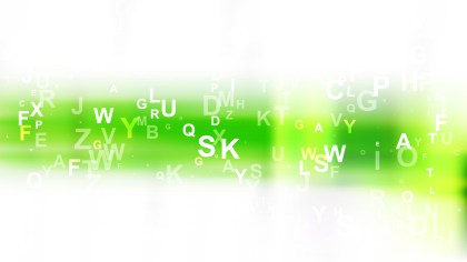Green and White Random Alphabet background