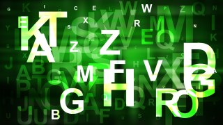 Abstract Green Black and White Alphabet Background Vector