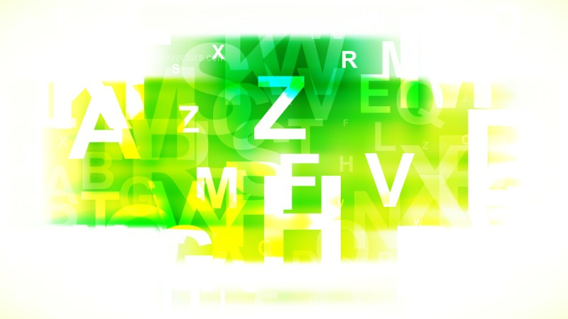 Green Yellow and White Alphabet Background