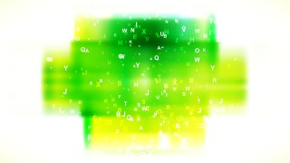 Green Yellow and White Scattered Letters Background Image