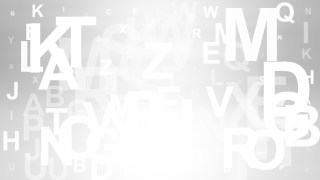 Grey and White Random Alphabet Letters Background