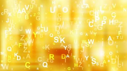 Abstract Orange Alphabet Background