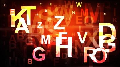Abstract Orange and Black Alphabet Background