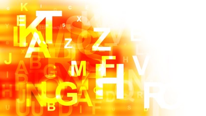 Orange and White Alphabet Letters Background Vector Image