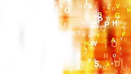 Orange and White Scattered Alphabet Letters Background Illustration