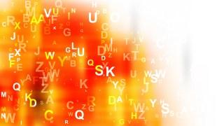 Orange and White Random Alphabet background Vector Art