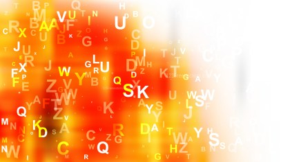 Orange and White Random Alphabet background Vector Art