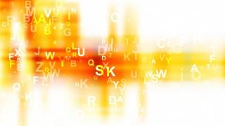 Orange and White Scattered Letters Background Illustration