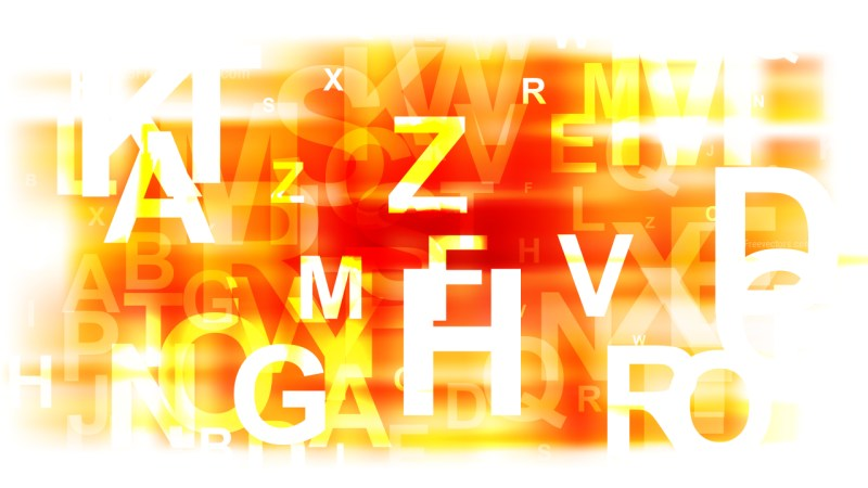Abstract Orange and White Alphabet Background