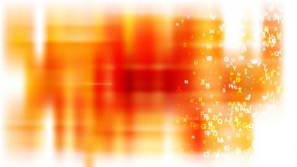 Orange and White Alphabet Background