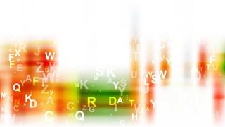 Orange White and Green Random Alphabet Letters Background